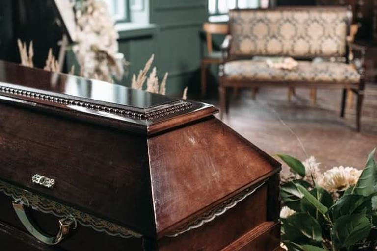 Casket and Bench