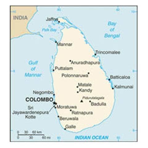 Map of Sri Lanka