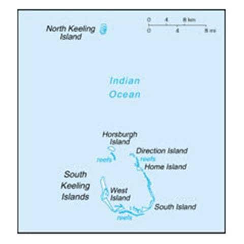 Map of Cocos (Keeling) Islands