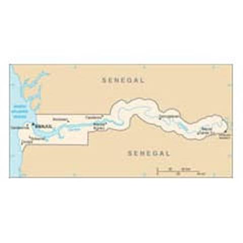 Map of Gambia, The