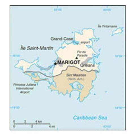 Map of Saint Martin