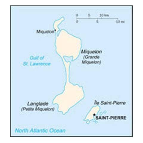 Map of Saint Pierre and Miquelon