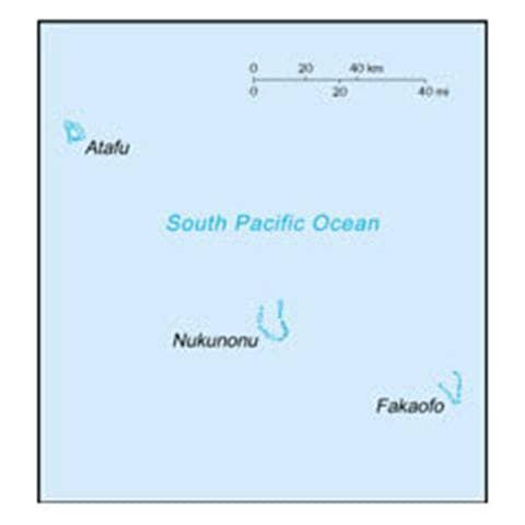 Map of Tokelau