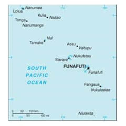 Map of Tuvalu
